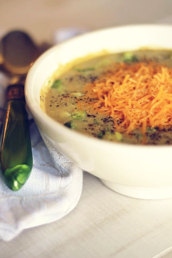 Easy Cheesy Broccoli Soup | Up in the gym just workin on my fitness ...