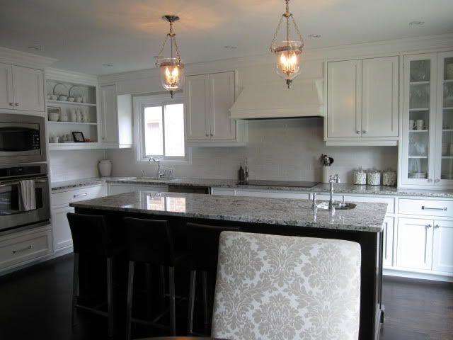 Bianco Kitchen : White kitchen with Bianco Antico granite home + interior design + e ...
