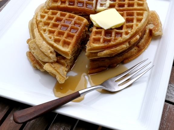 Brown Butter Pumpkin Spice Belgium Waffles are perfect for brunch