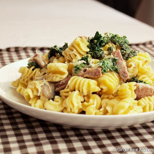Creamy Sausage Kale and Mushroom Pasta