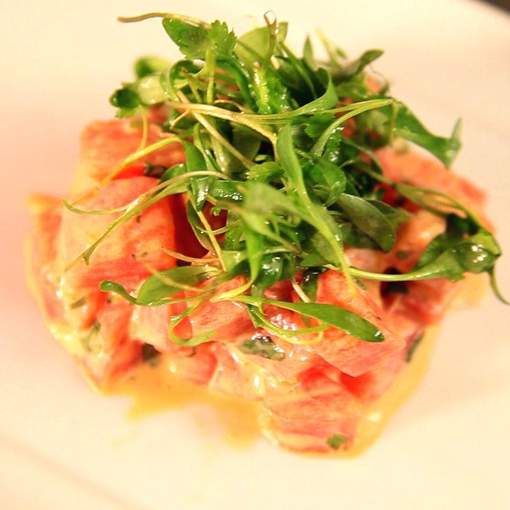 yuzu wasabi spicy crunchy tuna tartare tuna tartare with avocado and ...