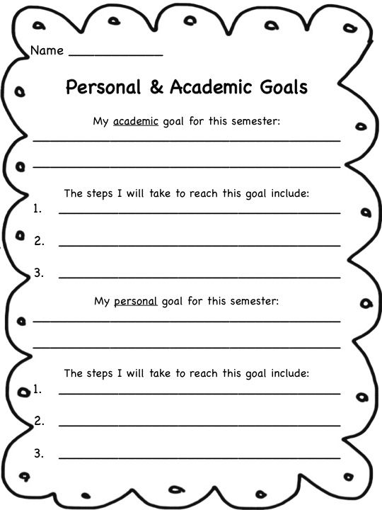 personal academic goals There is a strong correlation between self-motivation, personal goals and   academic goals – what knowledge and/or qualifications do you want to achieve.