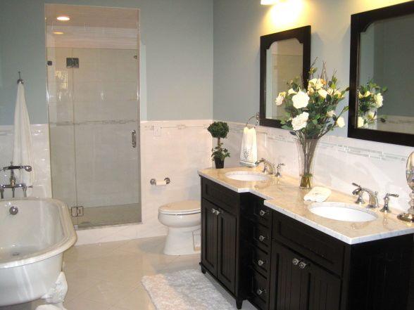 Wall Paint Color Is Benjamin Moore Beach Glass Bathrooms