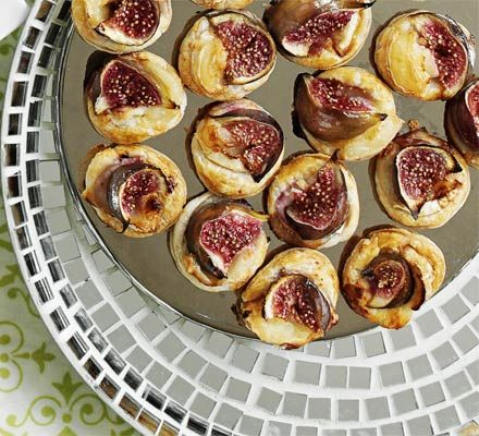 Fig & goat's cheese puffs | Food & Drink | Pinterest