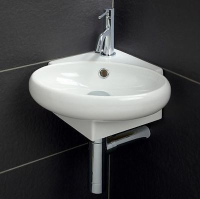 Square Corner Sink : ... Cloakroom Basin Bathroom Sink Round Square Corner Wall Hung 360