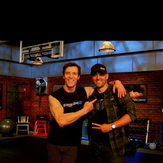 #TonyHorton & #AaronAviles on set of #P90X2 boooooyaaaa