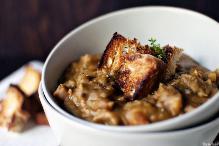Slow Cooker Split Pea Soup - minus ham