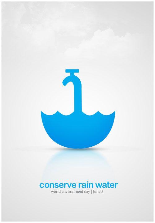 conserve rain water Poster