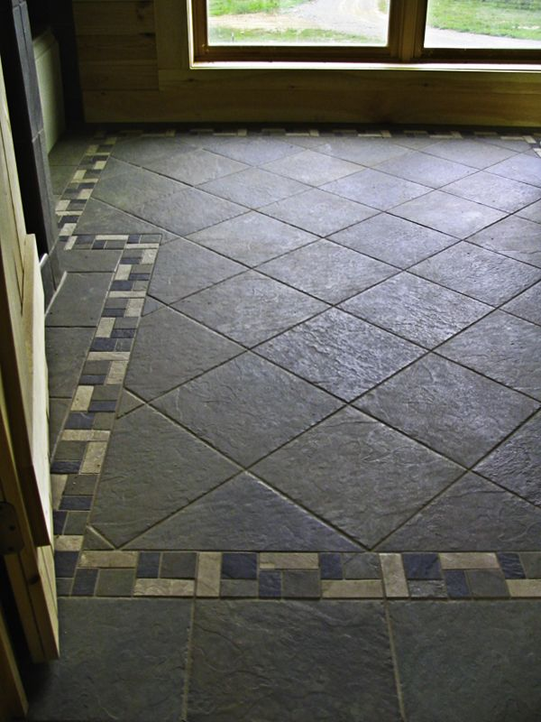 Pin by suanne pulliam gillespie on flooring countertops for Floor tiles border design
