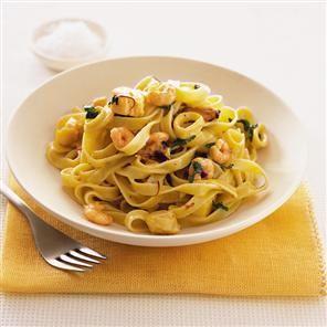 Seafood pasta in saffron sauce | À la bouffe! - Pâtes et pizzas ...