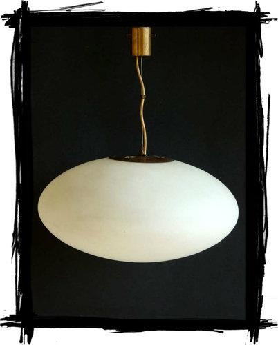 STILNOVO lampada design anni 50 vetro satinato lampadario ...
