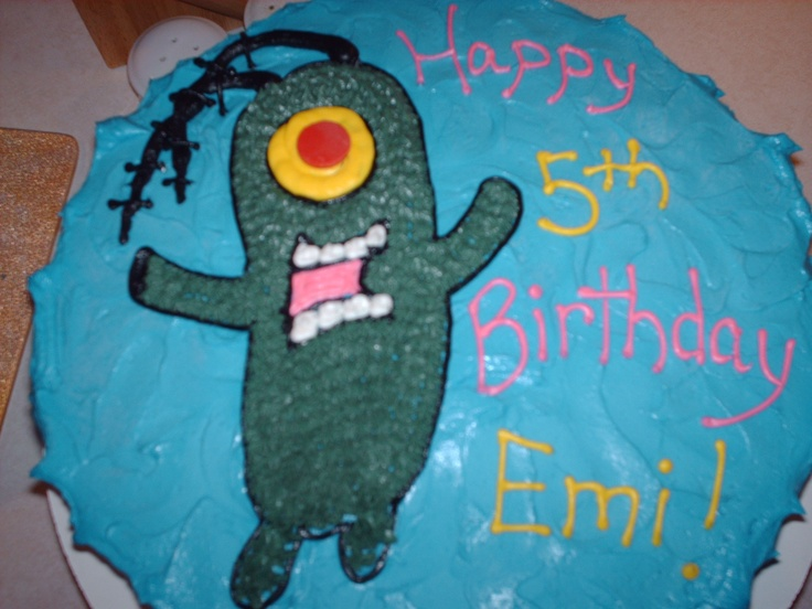 Plankton Birthday Cake | The Baker's Tree | Pinterest