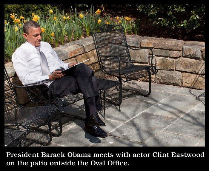 President Obama meets with Clint Eastwood