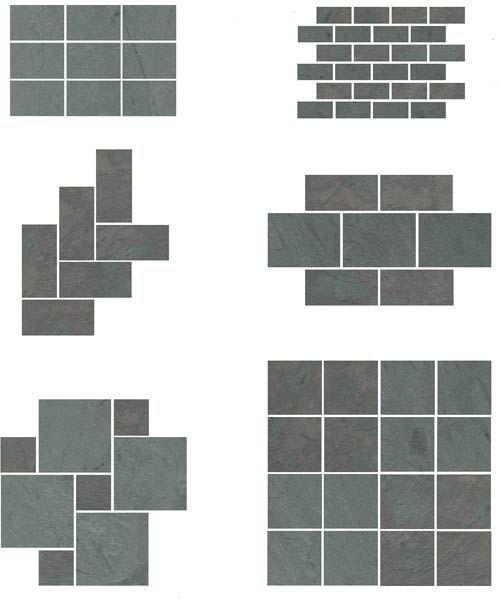 Slate floor patterns diy for the house pinterest for Slate floor patterns