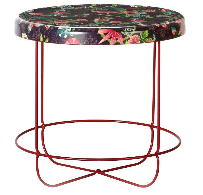 Table Basse Grise Ronde