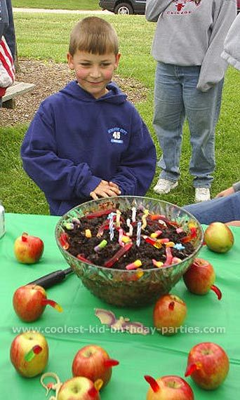 apples and worms   Party Party Party Food   Pinterest