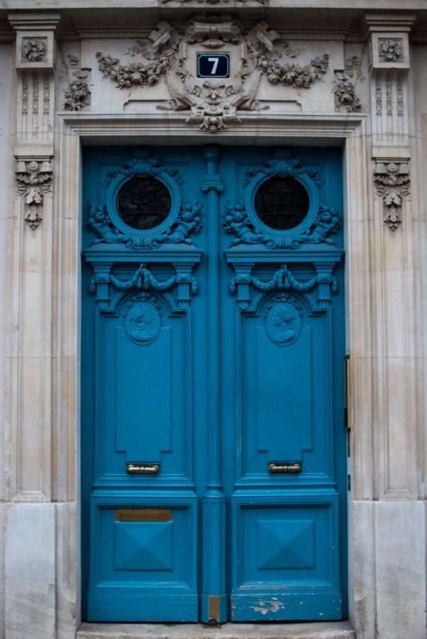Blue Doors - Paris, France.