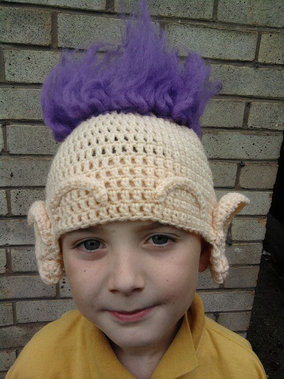 Crochet Pattern For Troll Hat : Troll Dolls inspired cochet hat Troll Dolls Pinterest