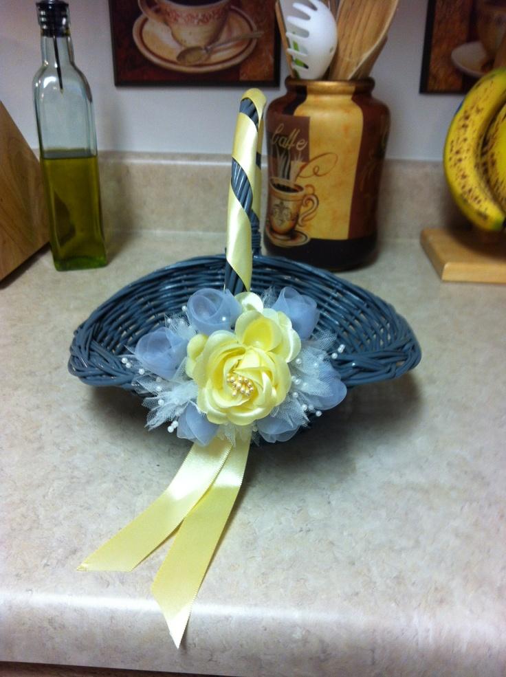 Flower Girl Baskets On Pinterest : Annies flower girl basket wedding ideas