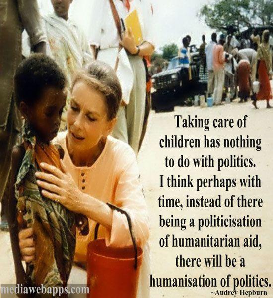 Audrey Hepburn Humanitarian Quotes