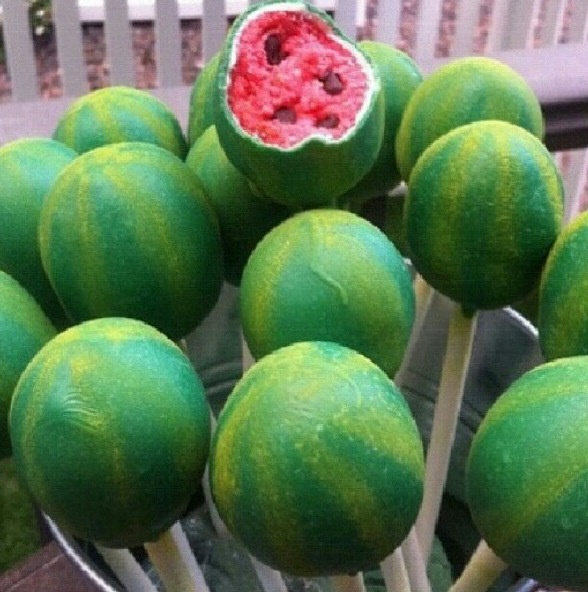 Watermelon cake pops! | Food | Pinterest