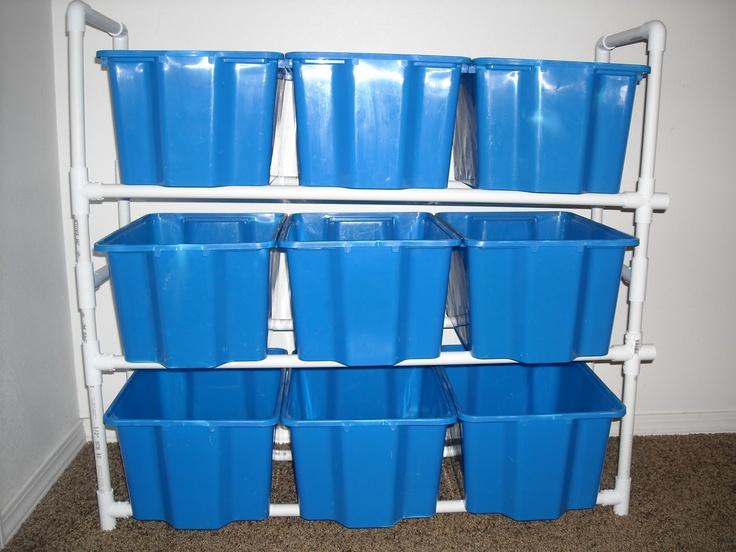 LDS Mom to Many: Toy Organizer with Old IKEA Bins - PVC DIY | PVC ...