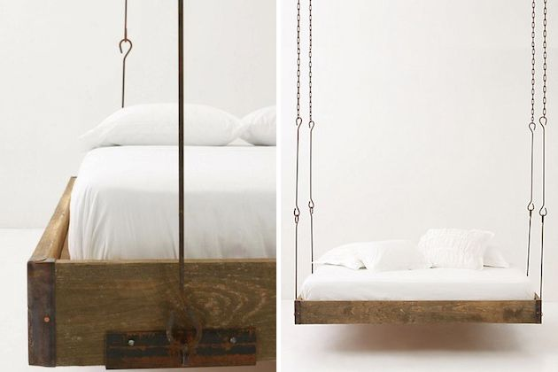 Ceiling hanging beds home sweet what pinterest - Beds hanging from ceiling ...