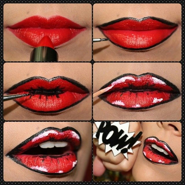Pin By Goldie Faal On Pop Art Makeup | Pinterest