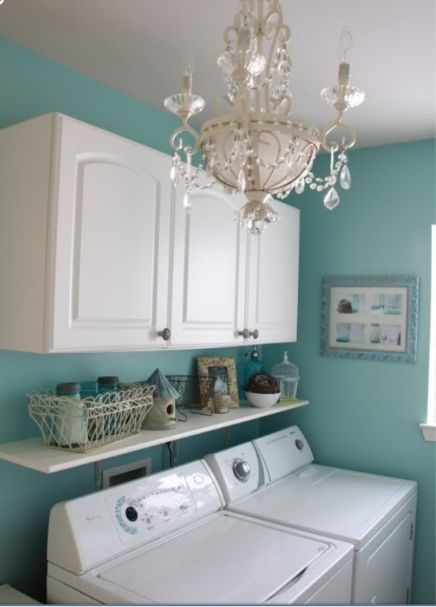 Good idea for a small laundry room space home ideas - Laundry room for small spaces ...