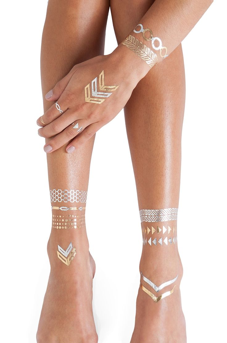 FLASH Tattoos Lena Tattoos in Gold & Silver