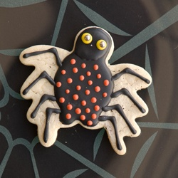 Spooky Spider Copper Cookie Cutter http://www.fancyflours.com/product ...