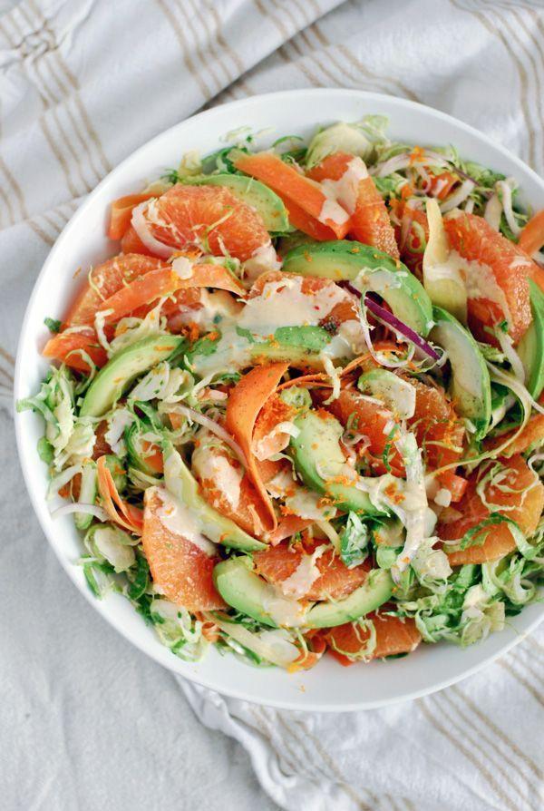 ... and Carrot Salad with Cara Cara, Avocado, and Orange Tahini Dressing