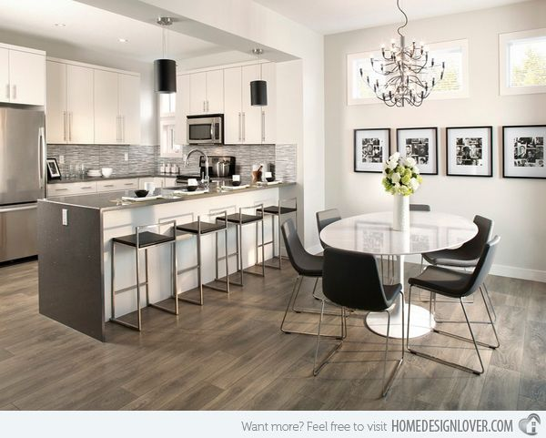 15 different kitchen flooring designs kitchens pinterest for Different kitchen designs