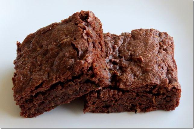 Gluten Free Chocolate Zucchini Brownies at www.bakingandboys.com