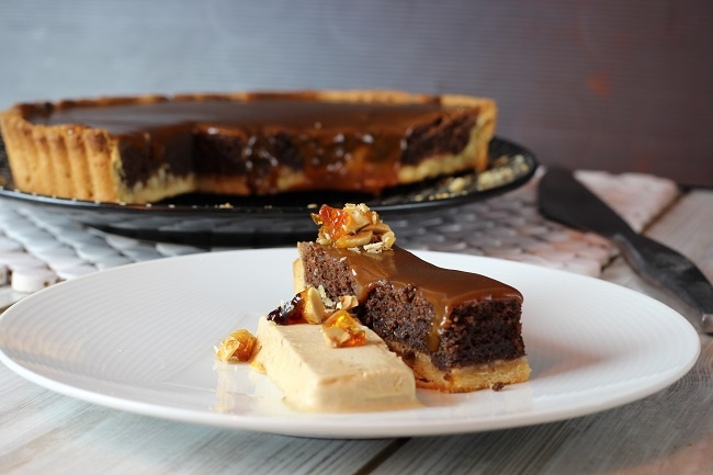 ine s banana cream piewith caramel and chocolate chocolate caramel ...
