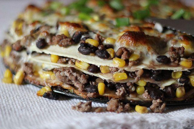 Tortilla and Black Bean Pie | RECIPES | Pinterest