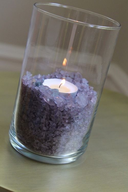 Dyed Rock Salt Vase Filler Home Dec Ideas