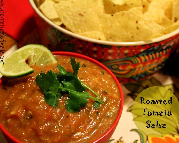 Roasted Tomato Salsa with Cilantro