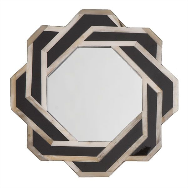 Octagonal Horn Mirror from Wisteria