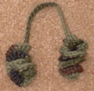 Crochet Curly Q Hair Ties : curly hair