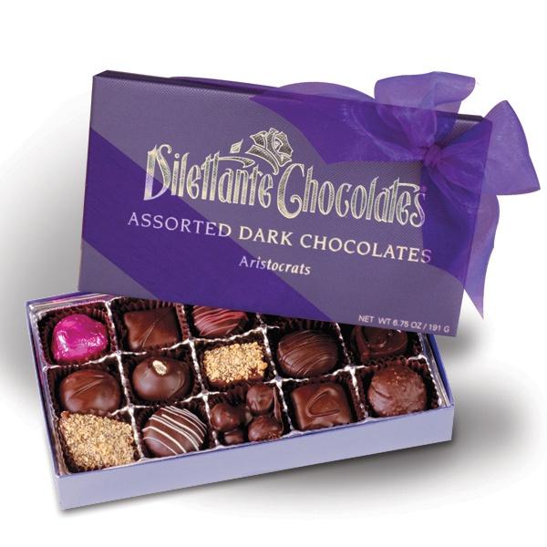Dark chocolate assortment. Gourmet chocolate truffles, chocolate ...