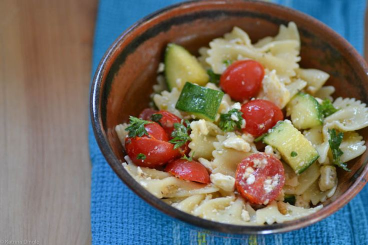 Pasta Salad with Zucchini and Feta | Pasta | Pinterest