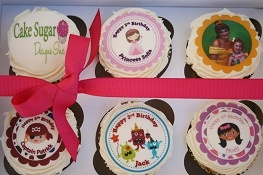 Personalized, customize your own edible cupcake, cookie & cake toppers! Choose from 100's of designs or we can design one for you. www.cakesugar.com