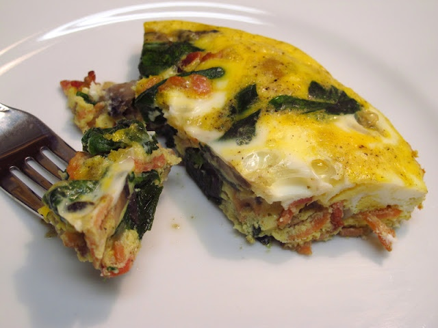 Believe I Can Fry: Spinach, Bacon & Mushroom Frittata