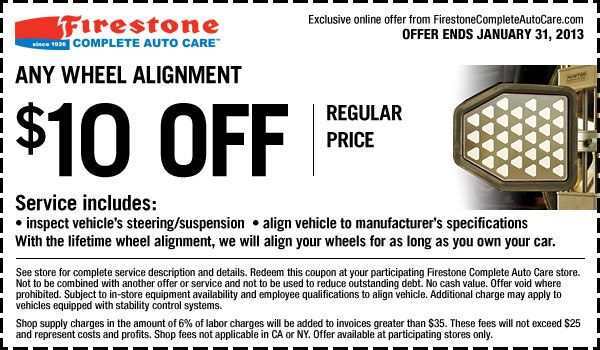 Firestone coupons 2018 20 off