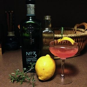 Ophelia Cocktail - Gin, Rosemary Simple Syrup And Fresh Lemon Recipes ...