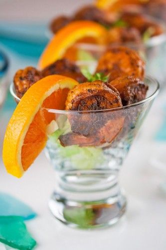 BBQ Shrimp Cocktail with Orange-Chipotle Cocktail Sauce!