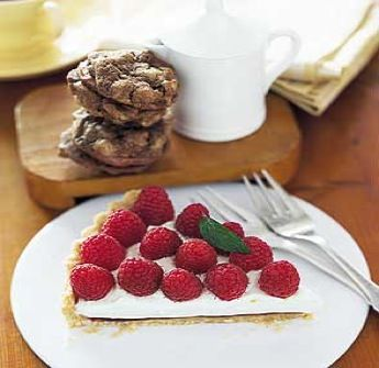 Fresh Raspberry Cream Tart | Tarts/Pies | Pinterest