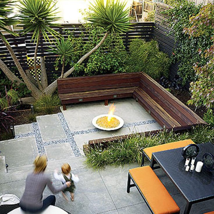 Back idea backyard landscape ideas pinterest for Pinterest small patio ideas