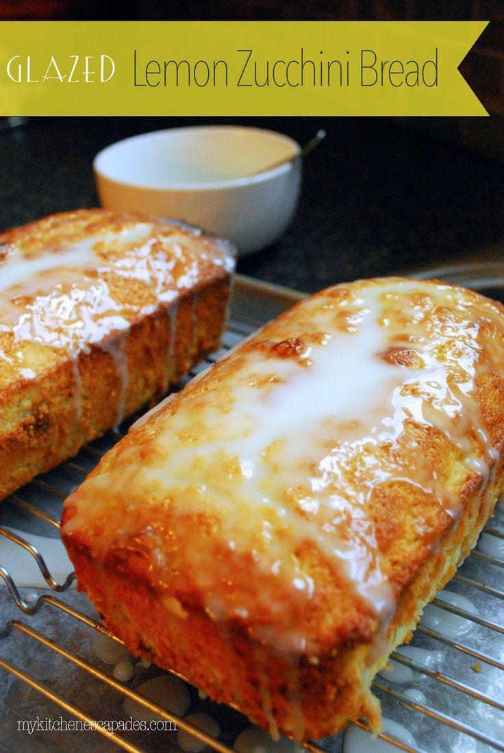 ... things to do with all my zucchini! Haha! Glazed Lemon Zucchini Bread